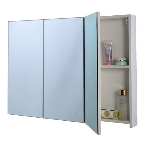 3 Door Bathroom Mirror Cabinets 3 Mirror Door 36 Quot 20 Quot Wide Wall Mount Mirrored Bathroom Medicine Cabinet Storage Ebay