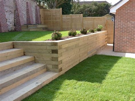 Joining Railway Sleepers by Best 25 Sleeper Retaining Wall Ideas On