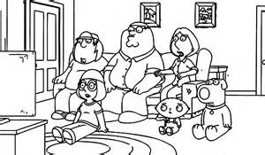 Family Guy Coloring Pages Printables To sketch template