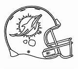 Football Miami Dolphins Coloring Page