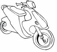 Scooter Coloring Page