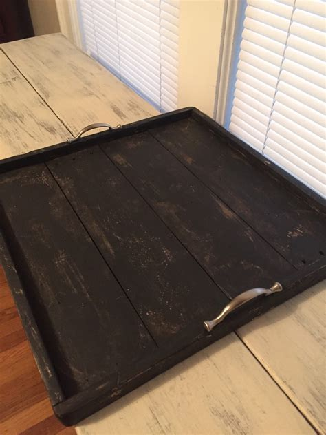 black ottoman serving tray black distressed ottoman serving tray handmade handpainted