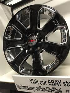Chevy Truck Wheels Black 20 Inch Gloss Black Chrome 2015 Gm Oe Ck 164 Replica