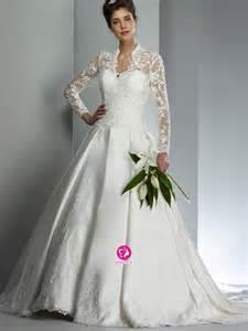 Wedding trend ideas lace long sleeve wedding dress