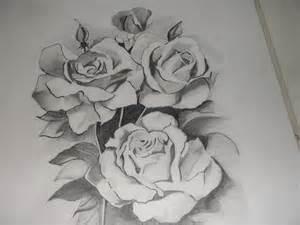 Pencil sketch flowers