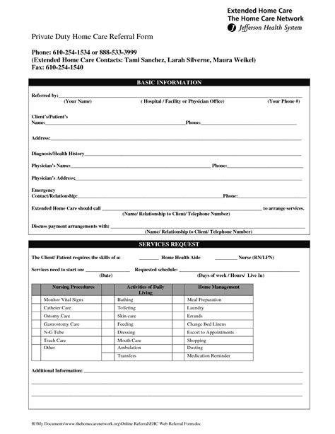 home health care templates behavioral health referral form pictures to pin on