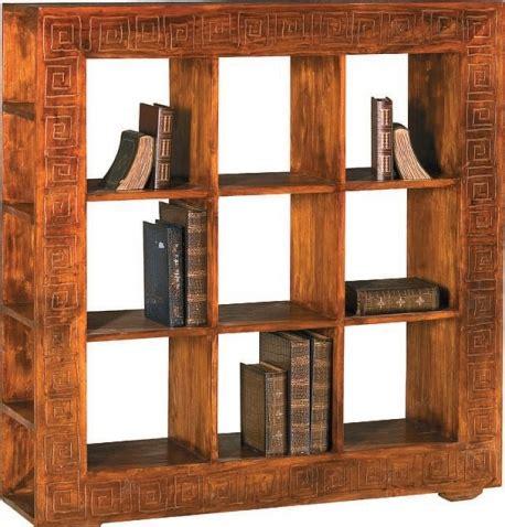 libreria etnica libreria etnica a cubi legno massello di noce indiano