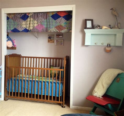 Crib In Closet by Removed Closet Doors Slid Crib In Closet This Really