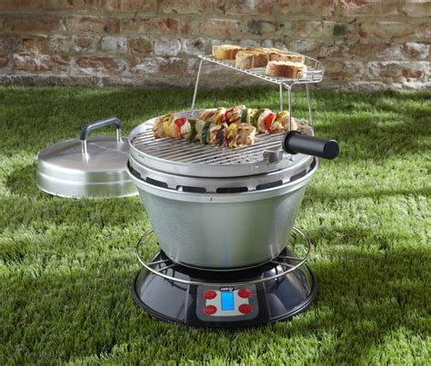 cook air wood fired portable bbq grill the green