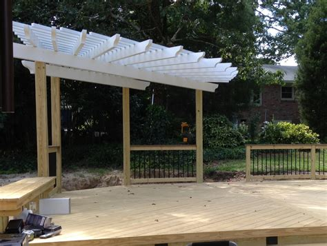 West Columbia Sc Custom Deck And Pergola Combinations Pergola On A Deck