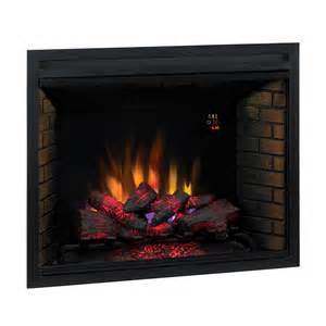 shop 38 9 in black electric fireplace firebox at lowes