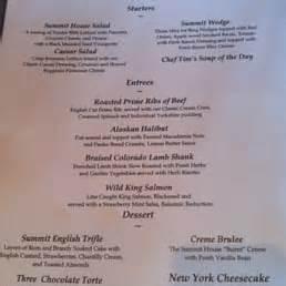 summit house menu yelp