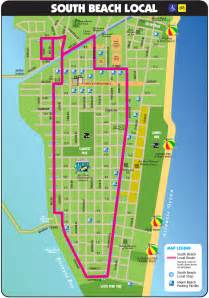Map Of Miami Beach by South Beach Tourist Map Miami Beach Florida Mappery