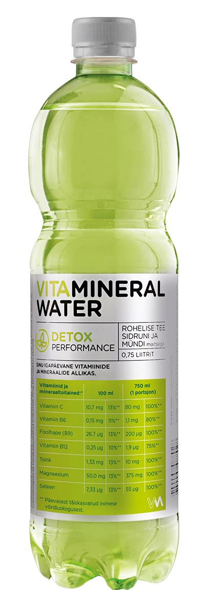 Mineral Water Detox by Vitamineral Detox A Le Coq
