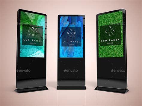 digital design mockup lcd digital signage mockup by dkgoodart graphicriver