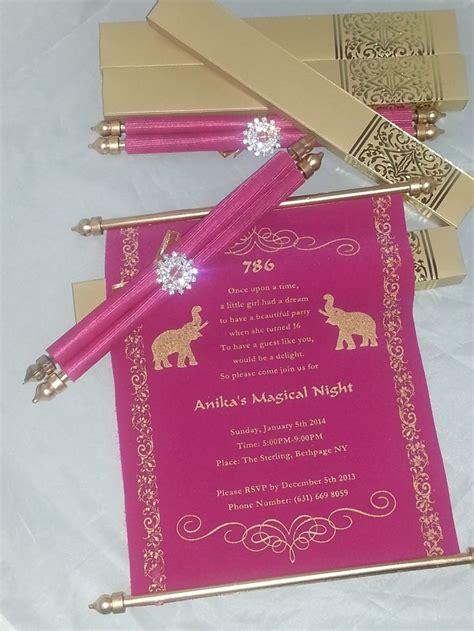 scroll wedding invitations in dubai best 25 scroll invitation ideas on disney