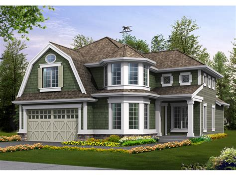 corner house curb appeal lynnbrook shingle style home plan 071d 0101 house plans
