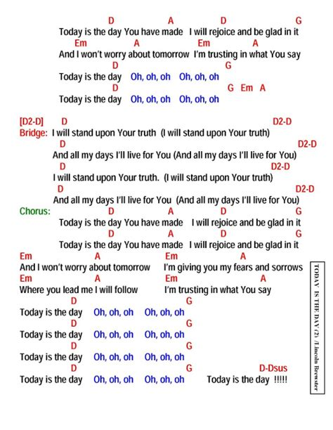 day lyrics in today is the day lyrics and chords faith and