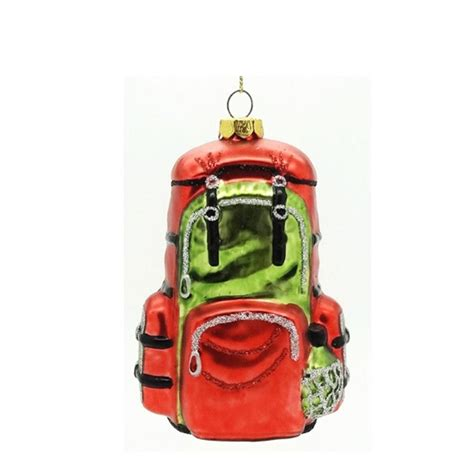 quot hiking cing travel backpack blown glass christmas