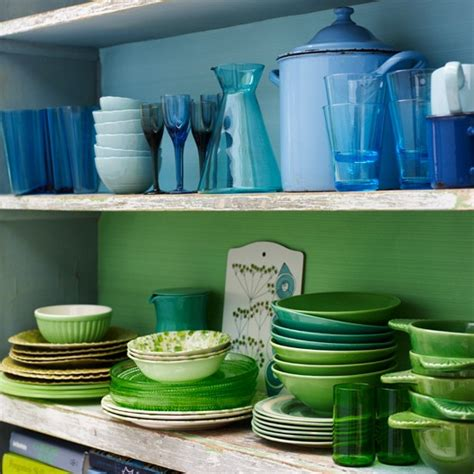 Colour coded chinaware and glassware   Colourful kitchen furniture and accessories   our