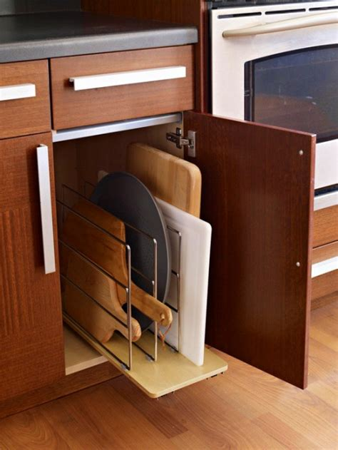 Upright Storage Cabinet 5 Creative Ideas To Organize Cutting Board Storage Shelterness