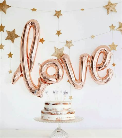 gold love themes rose gold love balloon classy hen party decorations