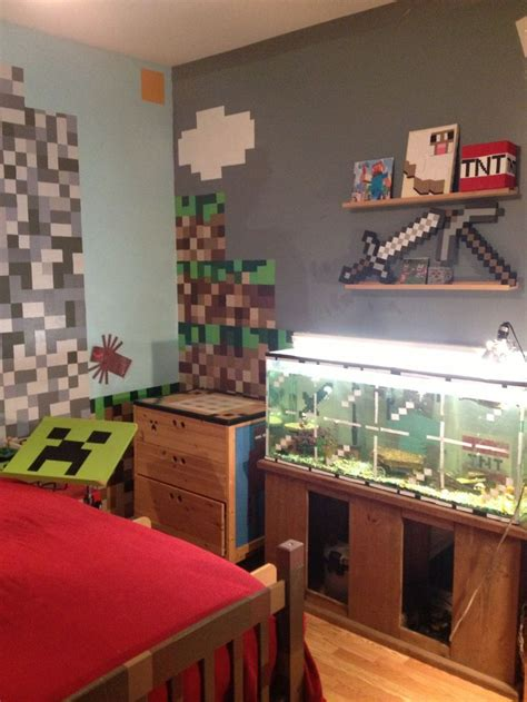 Minecraft Bedroom Ideas Minecraft Diy Minecraft Bedroom Inspiration Minecraft Bedroom And Fish