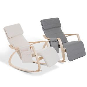 Comfortable Recliner Chair by Comfortable Modern Furniture Rocking Lounge Chair Recliner Adjust Footrest Relax Ebay