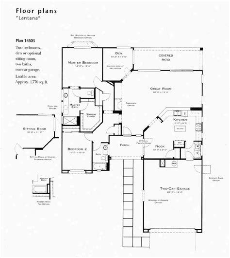 lantana model floor plan
