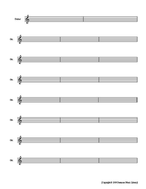 printable staff paper for guitar guitar music paper www imgkid com the image kid has it