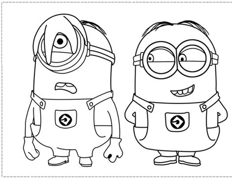 coloring pages minion stuart phil and stuart the minion coloring pages coloring pages