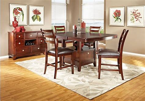 rooms to go isofa delvalle merlot 5 pc counter height dining room collection at rooms to go new home dining