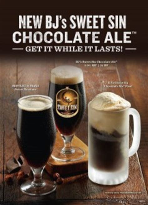 bjs ale house bj s restaurant brewhouse releases sweet sin chocolate ale brewbound com