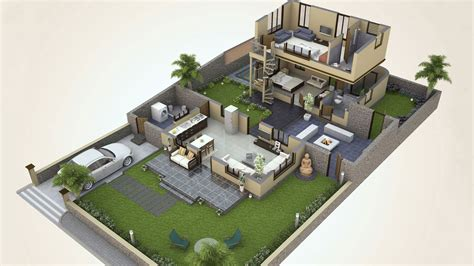 smallhomeplanes 3d isometric views of small house plans realism 3d isometric views 3d floor house plans 3d