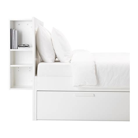 brimnes bed frame with storage headboard brimnes bed frame w storage and headboard white lur 246 y ikea