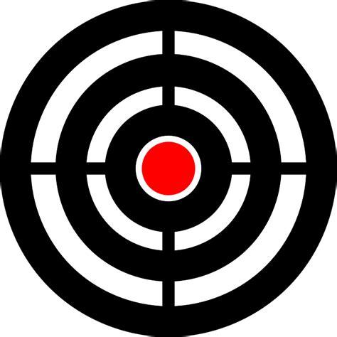 printable aiming targets target bullseye aim 183 free vector graphic on pixabay