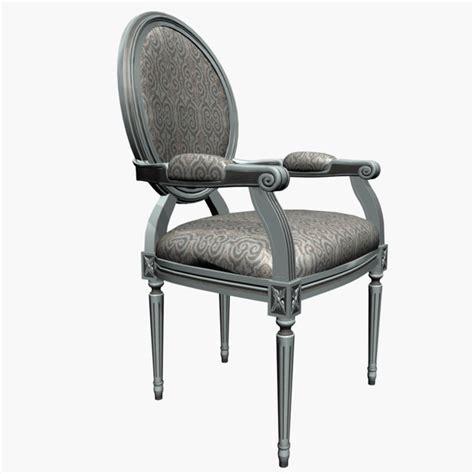 louis xv stuhl louis xv armchair 3d model