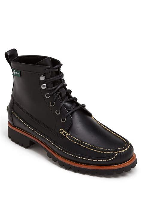 eastland moc toe boots eastland franconia 1955 moc toe boot in black for
