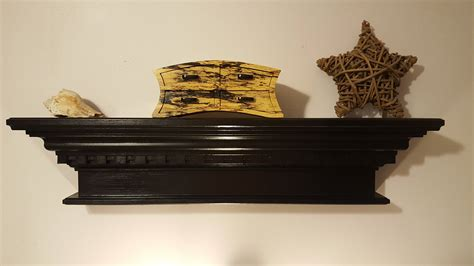 Black Crown Molding Shelf by Crown Molding Shelf In Black With Dental Accent