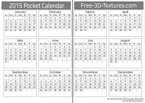 free printable pocket planner 2015 7 best images of 2015 pocket calendar printable 2015