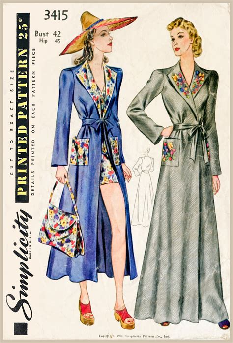 sewing pattern cover up 30s 1930s vintage women s sewing pattern beach cover up