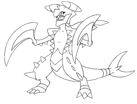 pokemon coloring pages garchomp garchomp coloring pages az coloring pages