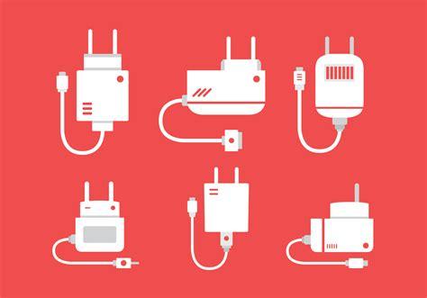 flat phone charger vector   vector art