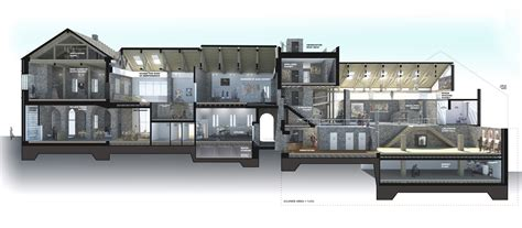 sketchup section architectural design by andrew govan prini at coroflot com