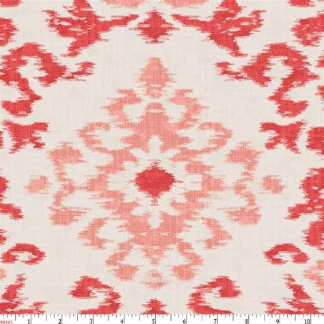 ikat pattern fabric coral ikat damask fabric by the yard coral fabric