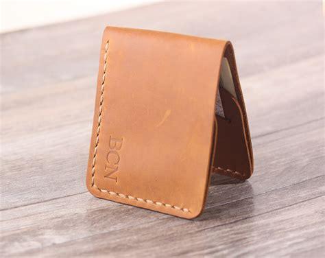 Handmade Pocket - handmade front pocket wallet personlaized slim mens leather