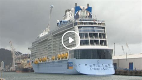 largest cruise ship video the largest cruise ship ever to visit our shores