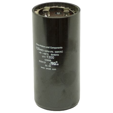 start run capacitor motor 130 156 mfd 330 vac motor start capacitor motor start