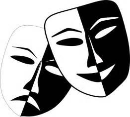 Black And White Drama Theatre Masks Clip Art At Clker Com Vector Clip Art