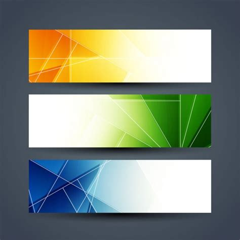 design x banner vector colorful abstract banners set vector free download